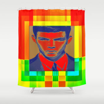 necktie Shower Curtain by Kathead Tarot/David Rivera