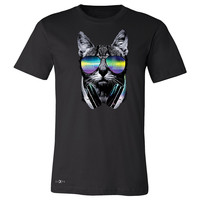 Zexpa Apparel™ DJ Cat With Sun Glasses and Headphones Men's T-shirt Graphic Tee