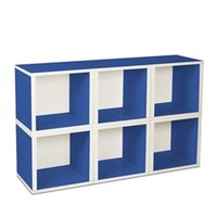 6 Modular Cubes Shelf Blue - Way Basics Dorm