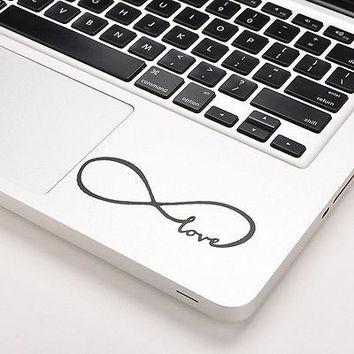 "Love Infinity Vinyl Decal Sticker Skin for Macbook Laptop Pro Air 13"" 15"" H LS"