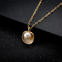 Pearl in Shell Necklace