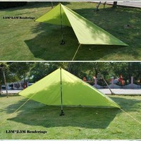 moistureproof mat tent pad outdoor sunny shelters 1.5M*2.5M nylon camping picnic tent sleeping mat pad 10color for choosing