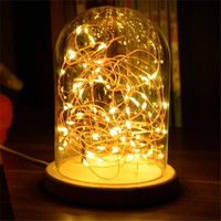 Romantic fireworks stars lamp creative USB night light atmosphere of the living room decoration