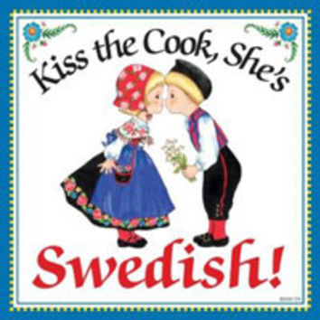 Kitchen Wall Plaques: Kiss Swedish Cook