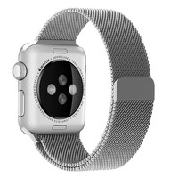 Changeable Apple Watch Band 38mm Silver Milanese Loop Fully Magnetic Clasp Stainless Steel Mesh iWatch Band for Apple Watch Series 3 Series 2 Series 1 Sport & Edition (Silver, 38mm)