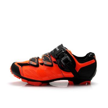 TIEBAO S1407 SPD Cleat Compatible MTB Cycling Shoes Outdoor Men Women MTB Bike Shoes Size 38 to 47 Mountain Bicycle Shoes