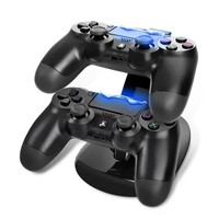 LED Dual USB Charging Dock Docking Charger Cradle Station Stand for Sony Playstation 4 PS4 Game Controller