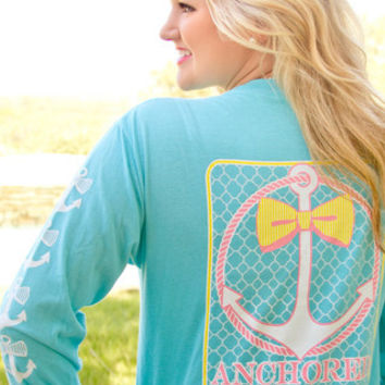 JADELYNN BROOKE: Anchored in the South LS Tee