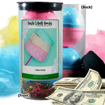 Cotton Candy Cash Bath Bombs Tube