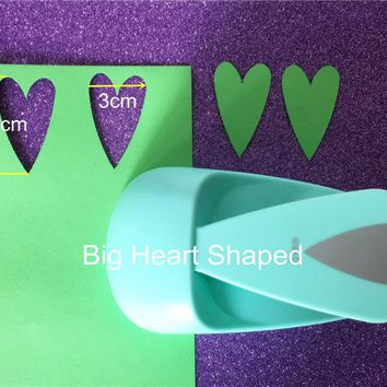 Free Shipping new big heart shaped save power paper/eva craft punch Scrapbook Handmade DIY hole punches love loving puncher