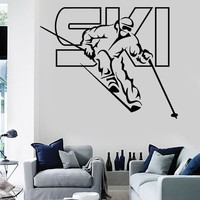 Vinyl Decal Wall Stickers Ski Winter Extreme Sport Olympic Games Living Room (z1645)