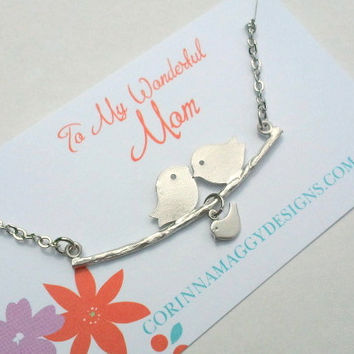 New Mom Necklace, Personalized Jewelry, mother's day, wife, sister, daughter, new baby, Mothers Day gift, baby shower gift