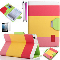 For Apple iPad Mini New Pouch Wallet  Magnetic PU Leather Case Smart Cover Stand