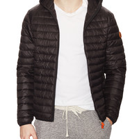 Hooded Quilted Jacket with Travel Pouch