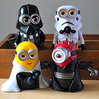4PCS Minions Star Wars Despicable Me Cosplay Action Figure Toy