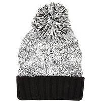 River Island Boys grey twist bobble hat