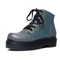 YRU Slayr Reflective Boot Punk color Changing shoe
