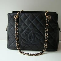 Chanel Black Caviar Classic Timeless Tote Bag - Chanel - Brands | Portero Luxury
