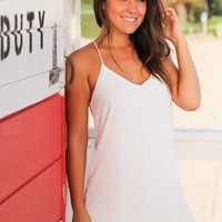 White Tank Short Dress