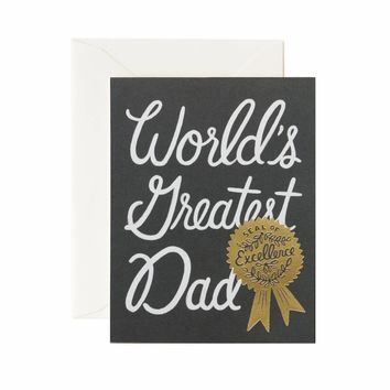 World's Greatest Dad Greeting Card by RIFLE PAPER Co. | Made in USA