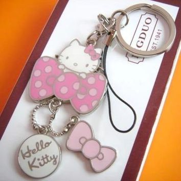 hello kitty keychain cute phone strap innovative chaveiro portachiavi promotional llaveros key holder free shipping