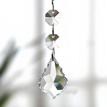 Aiskaer ® 15pcs Shining Beautiful Clear Crystal Glass Faceted Maple Chandelier Lamp Light Pendant Beads