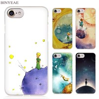 BINYEAE The Little Prince and the Fox Clear Cell Phone Case Cover for Apple iPhone 4 4s 5 5s SE 5c 6 6s 7 Plus