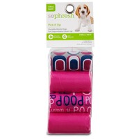 So Phresh Pick It Up Print Scented Dog Waste Bags, Pink | Petco Store