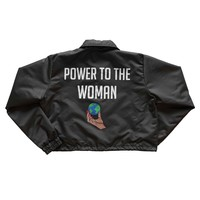 Power To The Woman Coach Jacket - Black