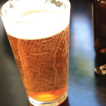 NYC Map Pint Glass