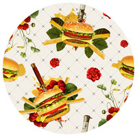 Cheeseburger in Gangsta's Paradise Circle wall decal