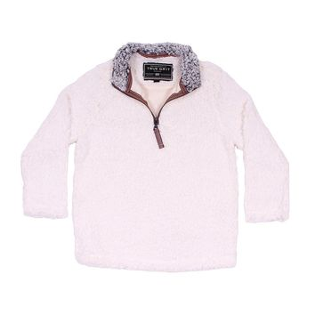 CHILD'S Frosty Tip 1/4 Zip Pullover in Ivory by True Grit