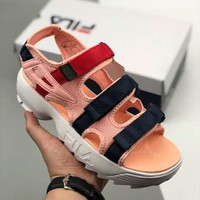 FILA 2018 summer Velcro beach shoes wild muffin bottom sports shoes F-CSXY