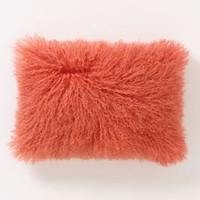 Fleece Flounce Pillow, Pink