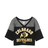 University of Colorado Athletic Mesh Tee - PINK - Victoria's Secret