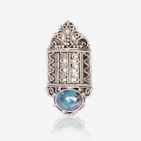 Crown Turquoise Statement Ring