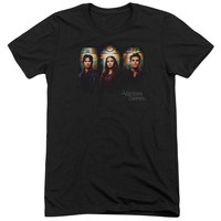 VAMPIRE DIARIES/STAINED WINDOWS-S/S ADULT TRI-BLEND-BLACK-SM