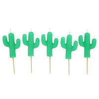 Sunny Life x Cactus Cake Candle 5 Pack - Mint Green