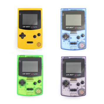 """Kong Feng GB Boy Classic Color Colour Handheld Game Console 2.7"""" Game Player with Backlit 66 Built-in Games"""