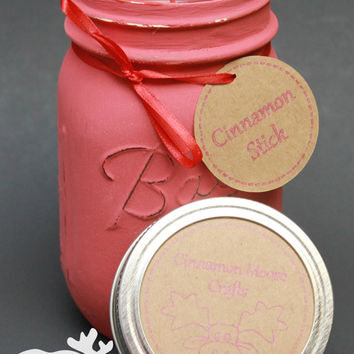 Cinnamon Stick / Mason Jar Candle / Cinnamon Stick Soy / Spicy Cinnamon / Scented Soy Candle / Gift Idea / Housewarming Gift /Pint Mason Jar