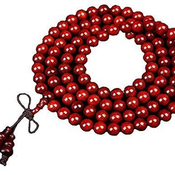 Haircloud Lobular Red Sandalwood Venus High Density 6mm 108 Beads/ Tibetan Buddhist Prayer Mala Multi-string Bracelet With Free Pack Box