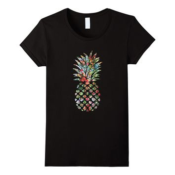 Pineapple Flower Garden Tee Shirt