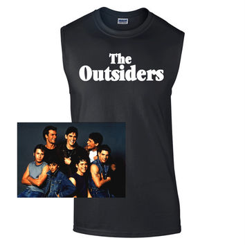 The Outsiders Sleeveless Movie T-Shirt - Greasers, soashes, ponyboy, johhny, sodapop, classic, film, tee, retro, tshirts, men