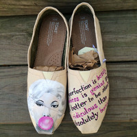 Marilyn Monroe Custom Toms Shoes