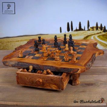 """#olive #wood #chessboard #chess - unique - perfect gift - present 15"""" x 15"""" -""""expedite shipping"""""""