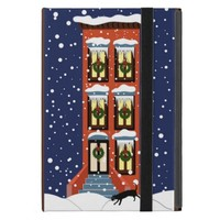 Brownstone Christmas Snow on iPad Mini Case