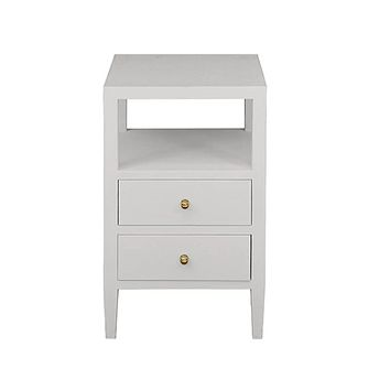Worlds Away Roscoe Two Drawer Side Table