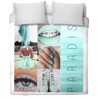Mint green Tumblr Duvet Cover