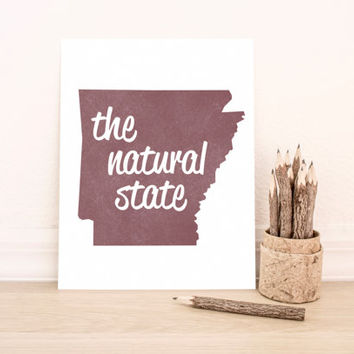 Printable Art Arkansas State Art Typography Poster Dorm Decor Home Decor Office Decor Poster
