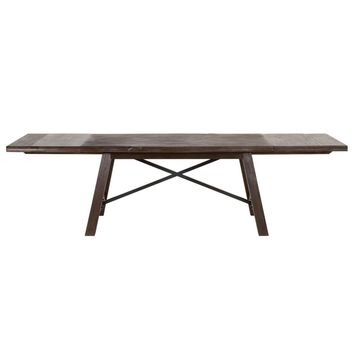 Nixon Extension Dining Table Rustic Java